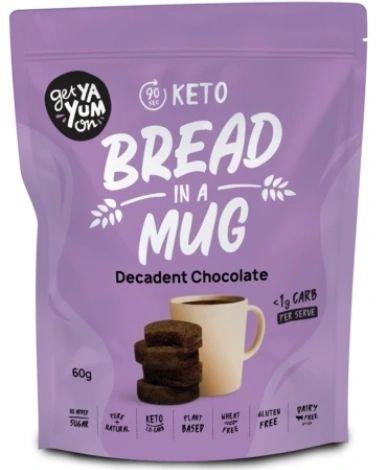 Get Ya Yum On (90 sec) Keto Bread In A Mug Decadent Chocolate 60g