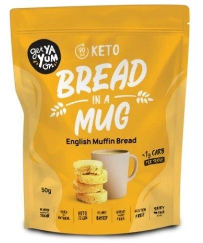 Get Ya Yum On (90 sec) Keto Bread In A Mug English Muffin Bread 50g