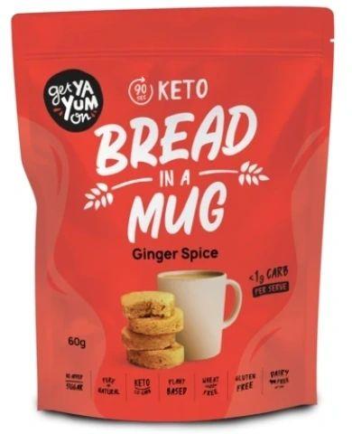 Get Ya Yum On (90 sec) Keto Bread In A Mug Ginger Spice 60g