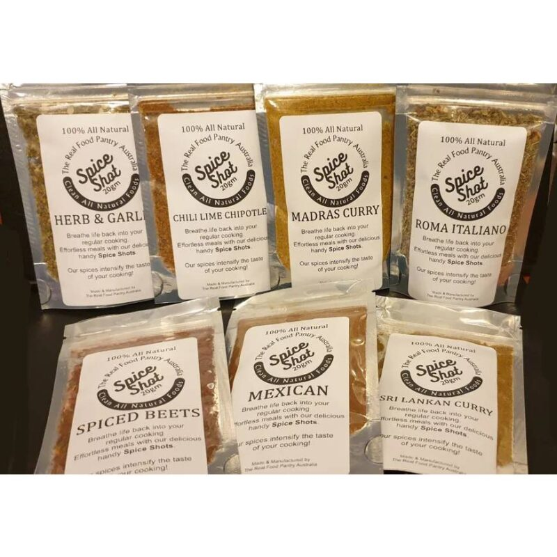 The Real Food Pantry Australia Spice Shots 20gm