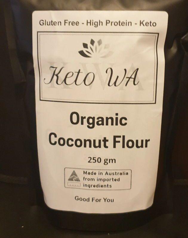 Organic Coconut Flour 250gm By Keto WA