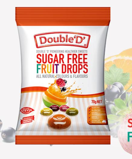 Double D - Fruit Drops 70gm