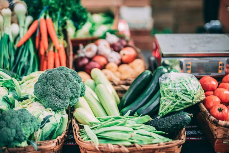fresh vegetable produce that is high in fibre
