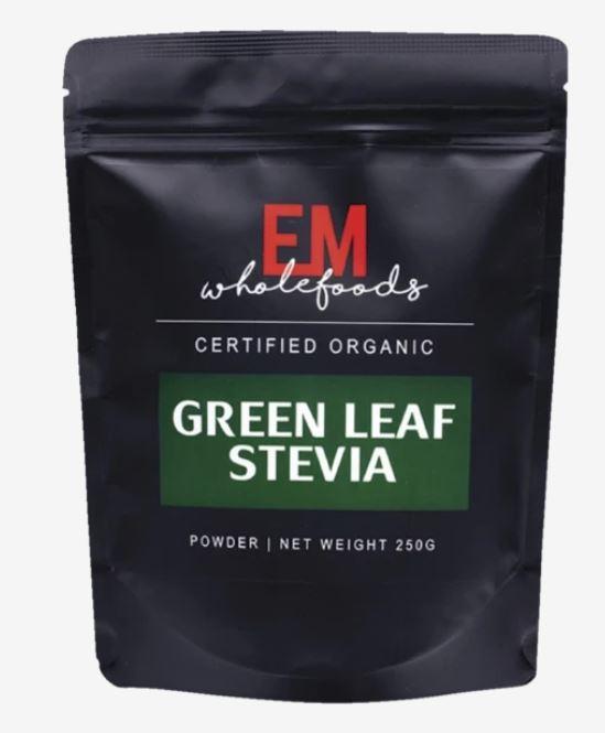 EM Wholefoods green Leaf Stevia organic powder 250gm