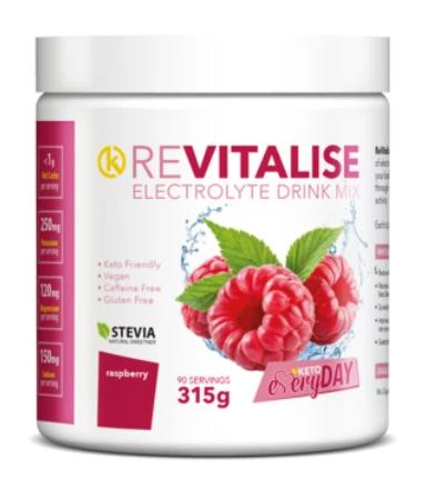 Keto Nutrition - ReVitalise Raspberry Electrolyte Drink Mix 30 serves